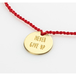 "Bracelet-lien ""Never give up"" doré"