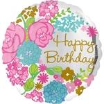 """Ballon d'anniversaire """"bouquet de fleurs"""""""