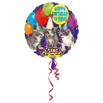 "Ballon d'anniversaire géant qui chante ""happy birthday"" en ""chat"""