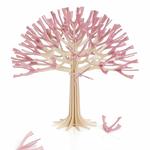 Petit arbre à voeux en bois, floraison rose