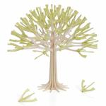 Petit arbre à voeux en bois, floraison verte
