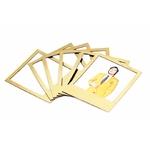 6 cadres à photo magnétiques dorés