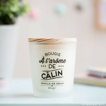 Bougie parfumée à l'arôme de câlin - Vanilla Ice Cream