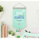 Calendrier mural 2017 - Une année pour rire, danser et profiter