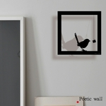 "Sticker cadre ""Oiseau gourmand"""