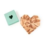 """Carte-puzzle romantique """"toi mon amour""""-vert"""