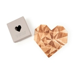 """Carte-puzzle romantique """"toi mon amour""""-gris"""