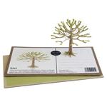 """Carte-puzzle 3D """"petit arbre à floraison verte"""""""