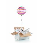 """Ballon d'anniversaire """"surprise"""" gonflé à l'hélium : écailles"""