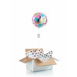 """Ballon d'anniversaire """"surprise"""" gonflé à l'hélium : fleurs et miroir"""