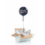 """Ballon d'anniversaire """"surprise"""" gonflé à l'hélium :  disco"""