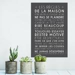 Les règles de la maison (affiche à encadrer) - fond carbone