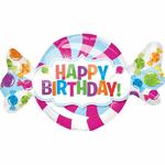"Ballon ""Happy Birthday"" bonbon"