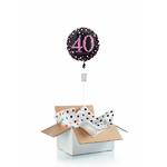 """Ballon d'anniversaire """"surprise"""" gonflé à l'hélium : 40 ans"""