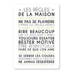 """Carte d'inspiration """"les règles de la maison"""" fond blanc"""