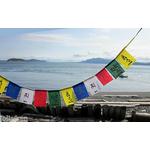 """15 Mini drapeaux porte-bonheur tibétain """"Om ma ni padme hum"""""""