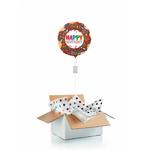 """Ballon d'anniversaire """"surprise"""" gonflé à l'hélium : donut"""