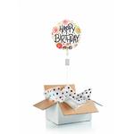 """Ballon d'anniversaire """"surprise"""" gonflé à l'hélium : fleuri"""