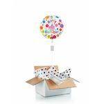 """Ballon d'anniversaire """"surprise"""" gonflé à l'hélium : cupcake transparent"""
