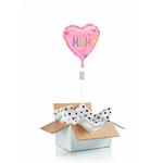 """Ballon """"surprise"""" gonflé à l'hélium : coeur """"Love you Mum"""""""