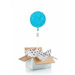"""Ballon """"surprise"""" gonflé à l'hélium : bleu étincelle"""