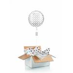 """Ballon """"surprise"""" gonflé à l'hélium : argenté"""