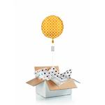 """Ballon """"surprise"""" gonflé à l'hélium : doré"""