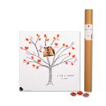 """Kit affiche à empreintes """"arbre à mots"""" (kit affiche + 3 encreurs)"""