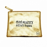 "Pochette ""Think happy stay happy"""