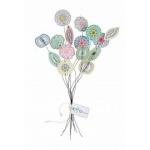 Fleurs en papier à message pour déco et bouquet