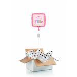 """Ballon """"surprise"""" gonflé à l'hélium : naissance """"c'est une fille"""""""