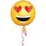 Ballon Smiley coeurs