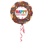 "Ballon gonflable d'anniversaire ""happy birthday"" Donut"
