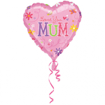 "Ballon gonflable coeur ""Love you mum"""