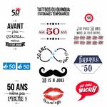 Tattoos du quinqua (anniversaire 50 ans)