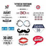 Tattoos du trentenaire (anniversaire 30 ans)