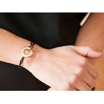 Bracelet anneaux entrelacés personnalisé