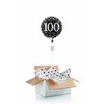 """Ballon d'anniversaire """"surprise"""" gonflé à l'hélium : 100 ans"""