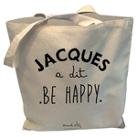 "Tote-bag reversible ""Jacques a dit ""be happy"" !"