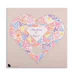 """Affiche à compléter """"grand coeur diamant"""" personnalisée"""