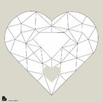 """Affiche à compléter """"grand coeur diamant"""""""