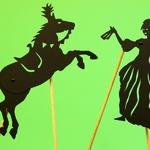 Silhouettes articulées pour ombres chinoises : la princesse et le cheval