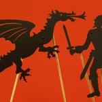 Silhouettes articulées pour ombres chinoises : le dragon et le chevalier