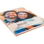 Grand livre d'or de mariage avec couverture personnalisée