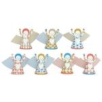 7 anges en papier à plier