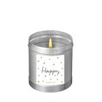 """Bougie parfumée """"Nuit blanche - Happy"""""""