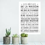 Les règles de la maison (affiche à encadrer) - fond blanc