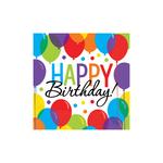 """125 serviettes en papier """"happy birthday"""""""