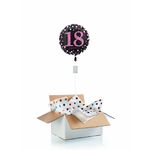 """Ballon d'anniversaire gonflé à l'helium """"18 ans"""" Happy Birthday"""