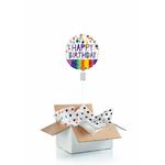 Ballon d'anniversaire gonflé à l'helium : couleurs vives